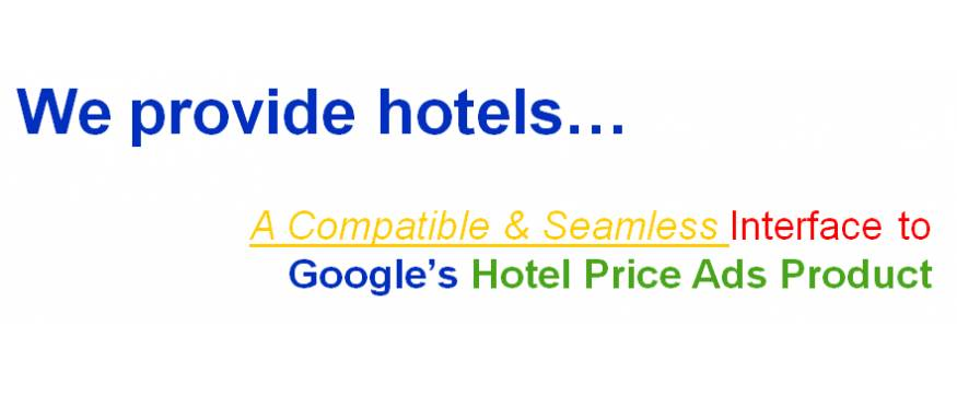 We provide a seamless interface to connect your hotel with Google's vast travel network then land the customer on your website