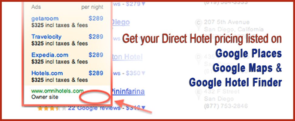 Get Your Direct Hotel Pricing Listed On Google Local Finder Maps