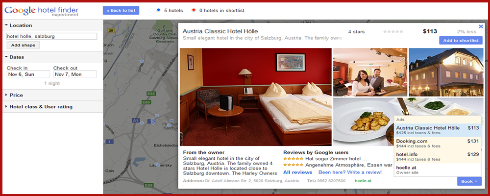 Google hotel finder get your hotel direct rates listed for Google hotes