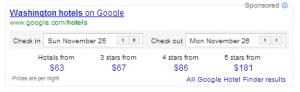 New Google Hotels Ad